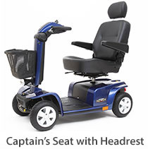 Scooter with a Captian's Seat, the Celebrity XLE 4-Wheel