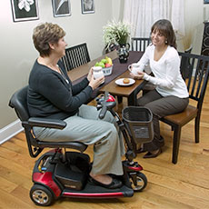 Using a Mobility Scooter Indoors