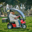 Afiscooter S 3-Wheel in Red w/ Golf Tires and Canopy