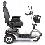 Drive Medical Prowler 3-Wheel Heavy Duty High Weight Capacity Scooter In Metallic Gray