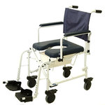 "Mariner Rehab Shower Commode Chair- 5"" Wheels"